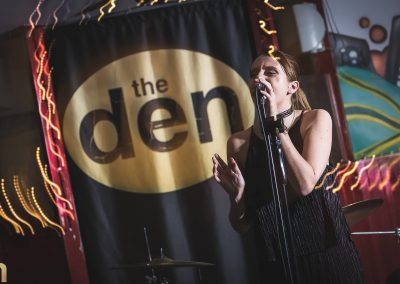 Becky Bowe at the den Harrogate